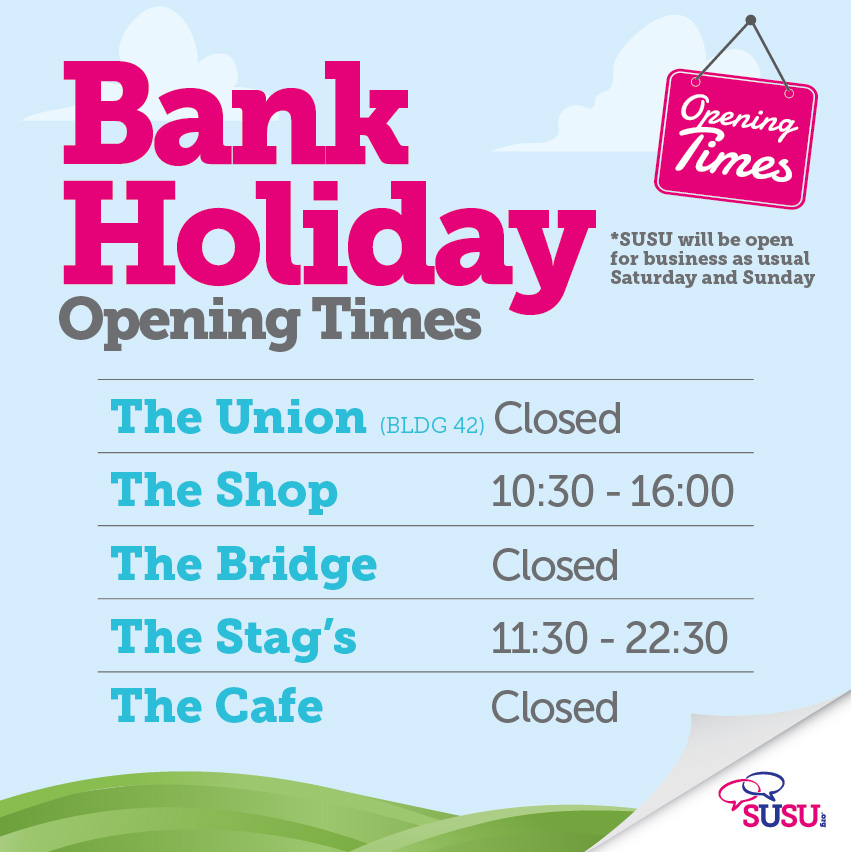 Bank Holiday Opening Times - Facebook Square