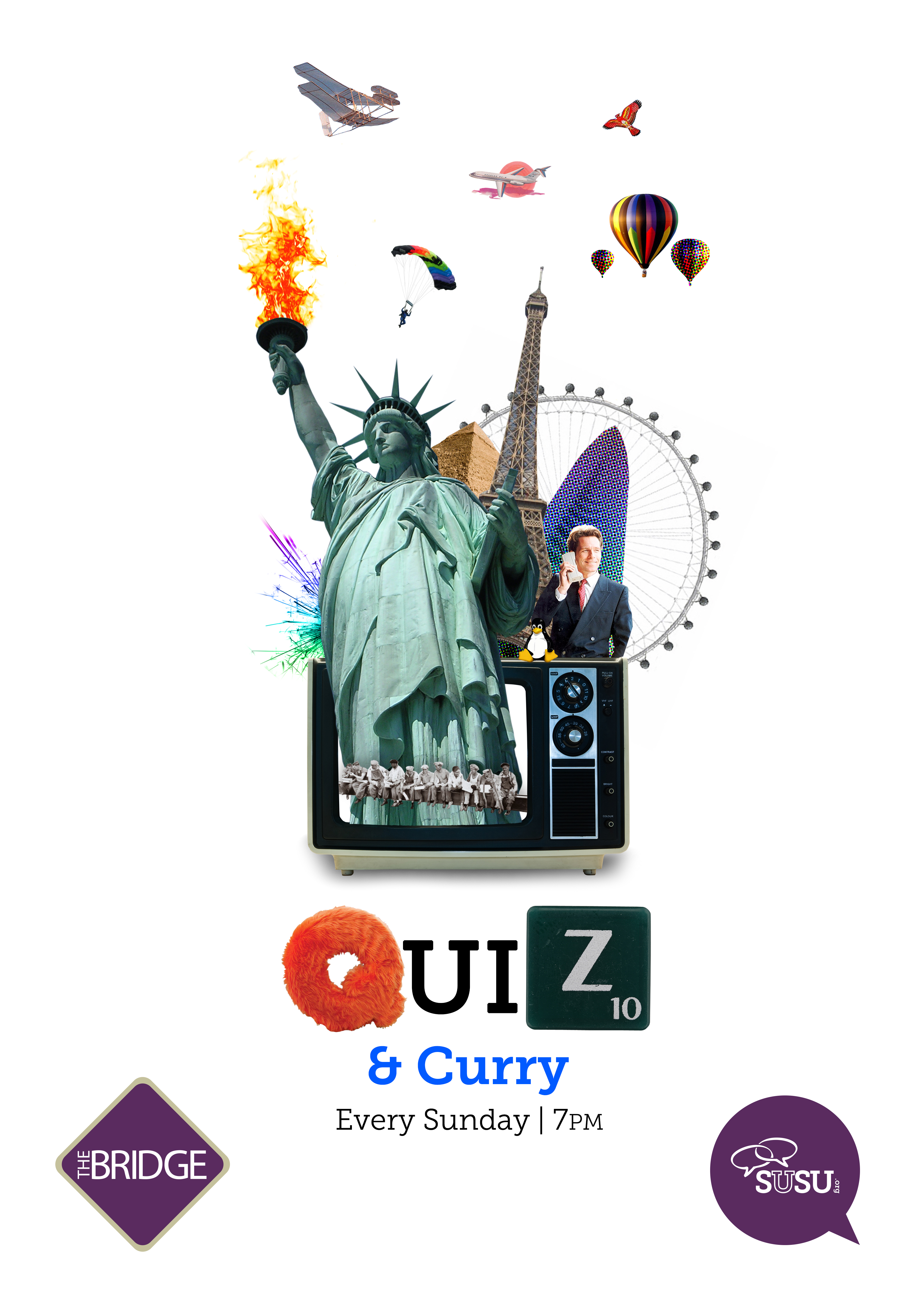 Quiz & Curry Poster
