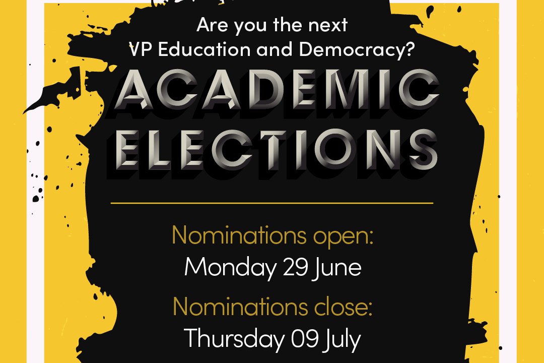 Could you be our next VP Education and Democracy?
