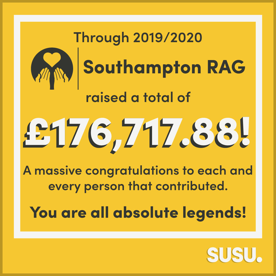 Image of Southampton RAG Fundraise Over £176,000 During 2019-20