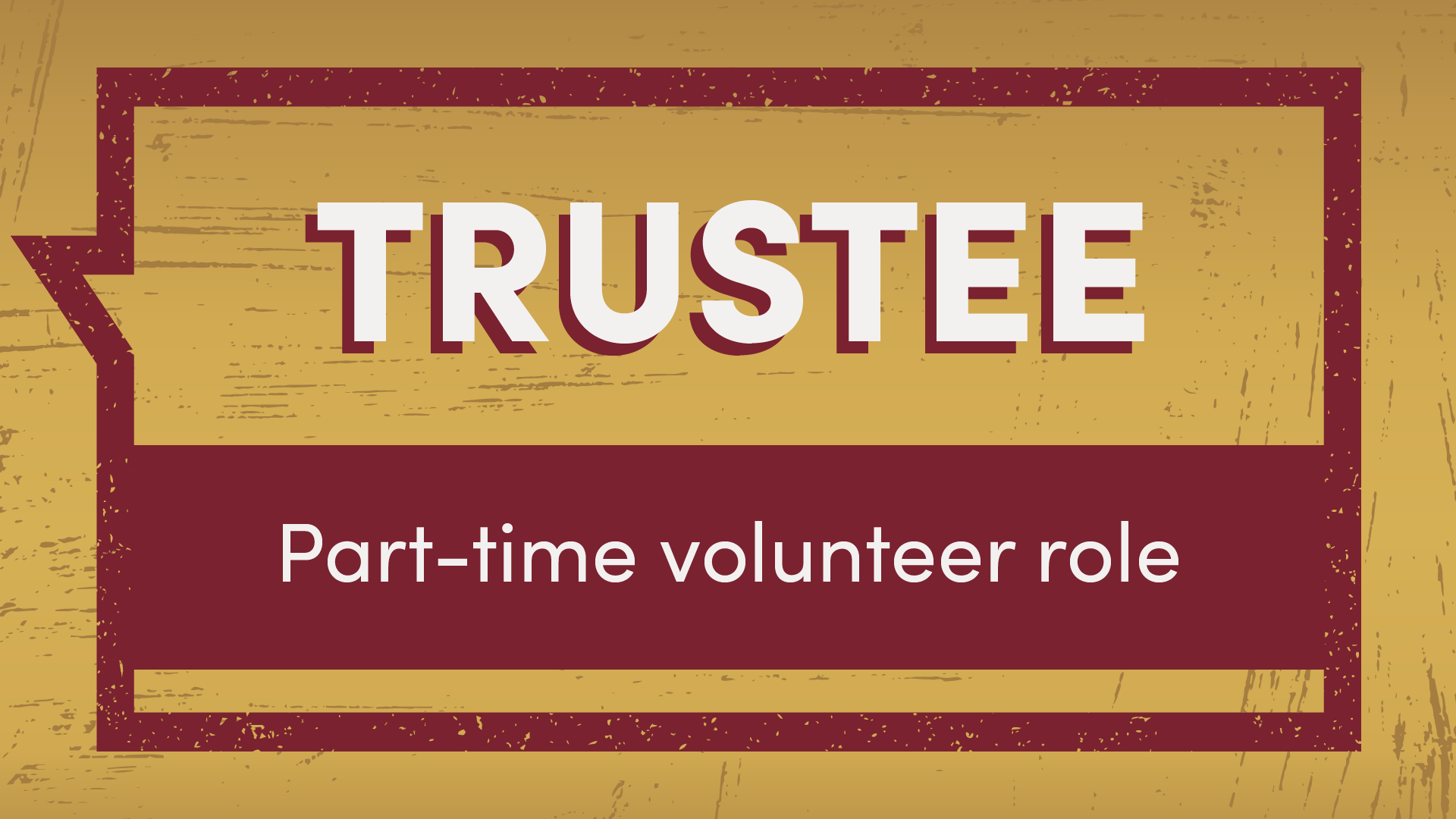 Trustee part-time volunteer role