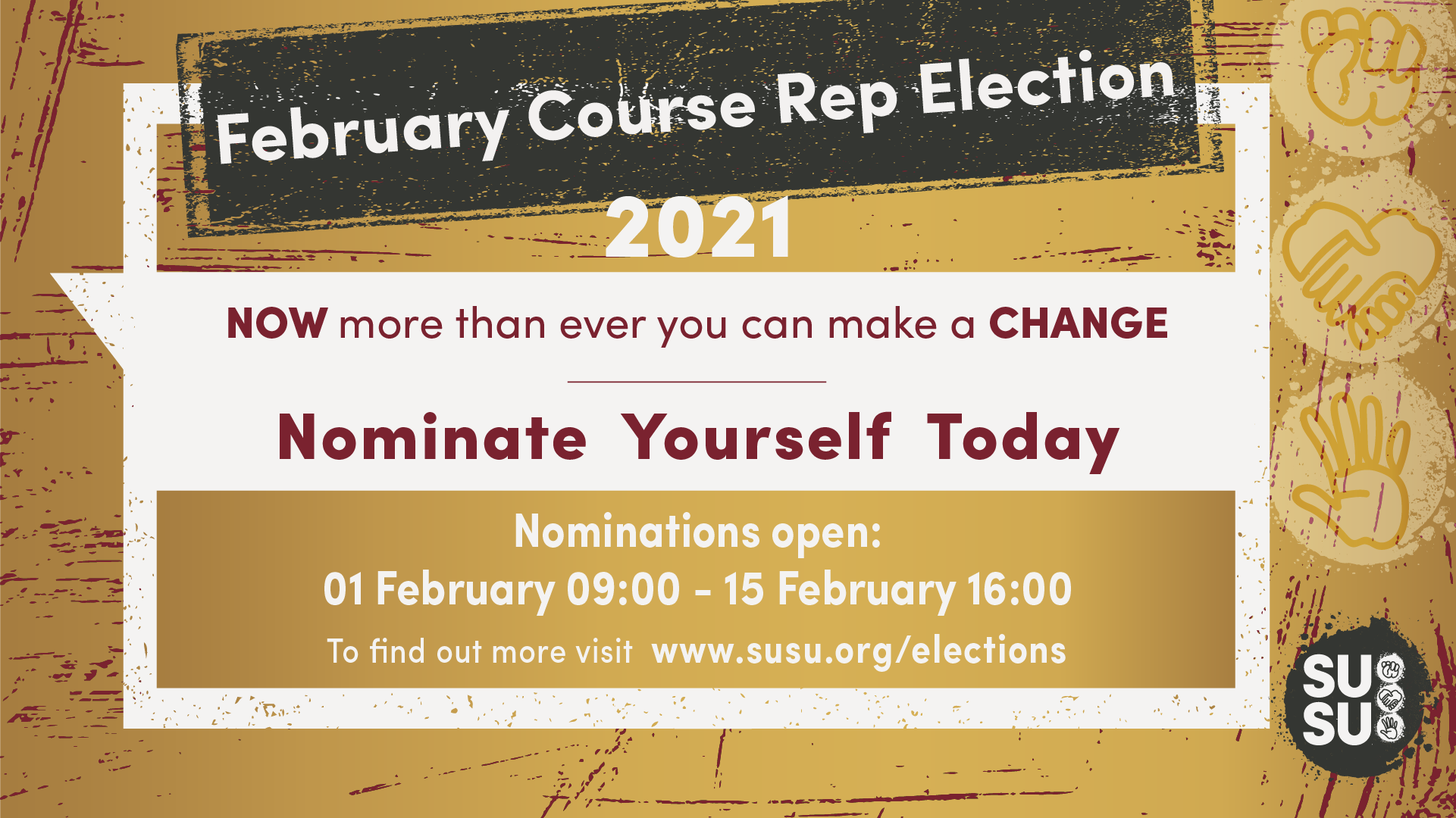 February Course Rep Elections