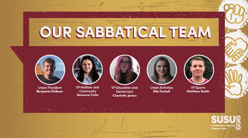 Sabbatical Officer Team 2021-22